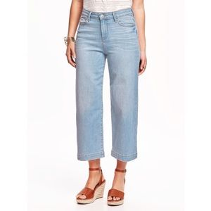 Old Navy High Rise Denim Culotte in Light Wash